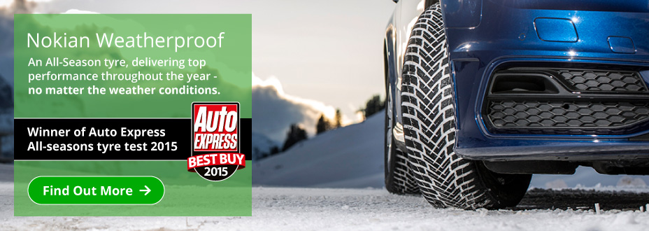 Nokian Weatherproof tyre - top performance throughout the year - no matter the weather conditions