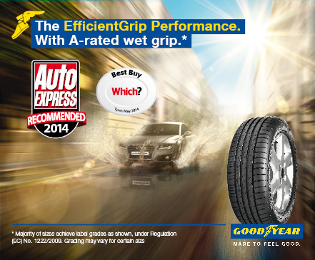 Goodyear EfficientGrip Performance Auto Express Recommended 2014