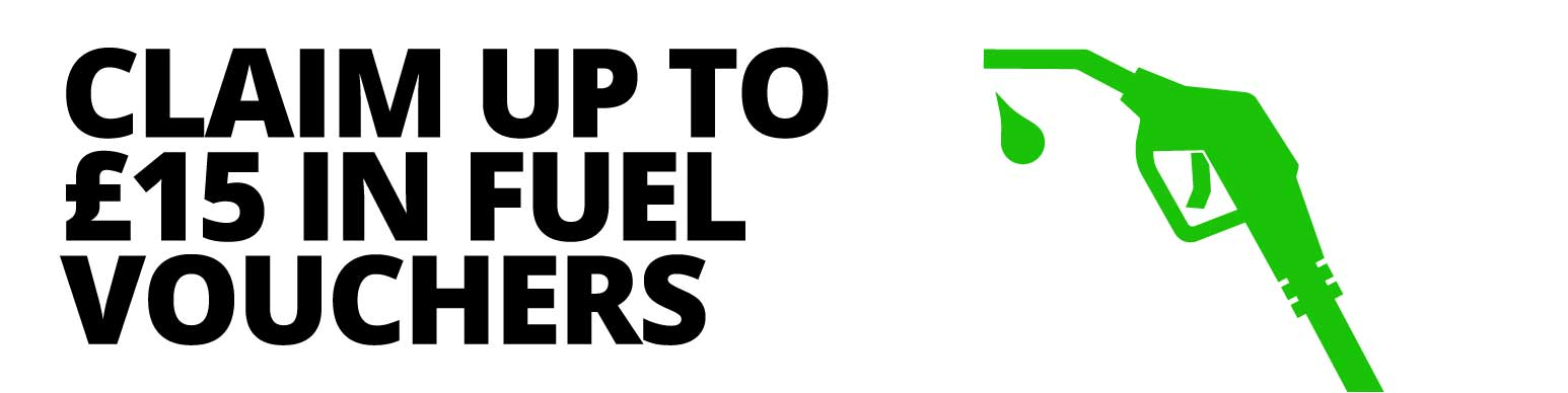 Up to £15 fuel vouchers when you order four or more eligible tyres