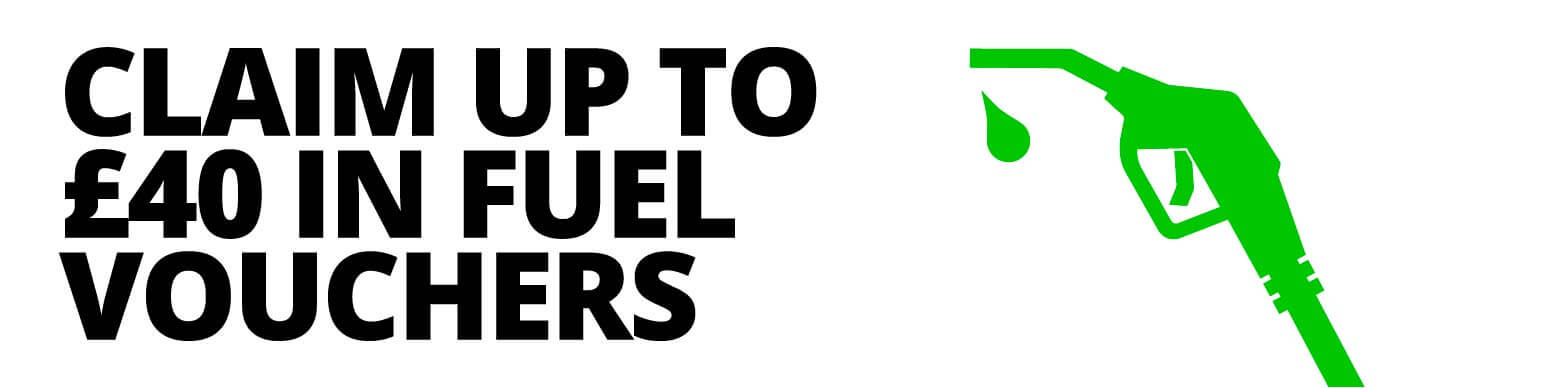 Up to £40 fuel vouchers when you order four or more eligible tyres