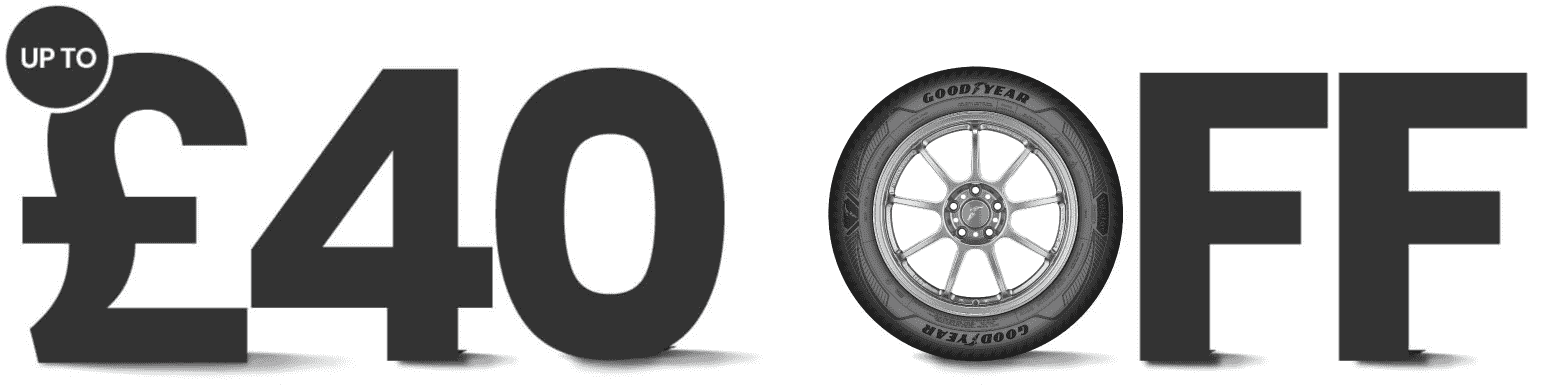 Up to £40 off Eligible Goodyear All Season tyres when you order four tyres