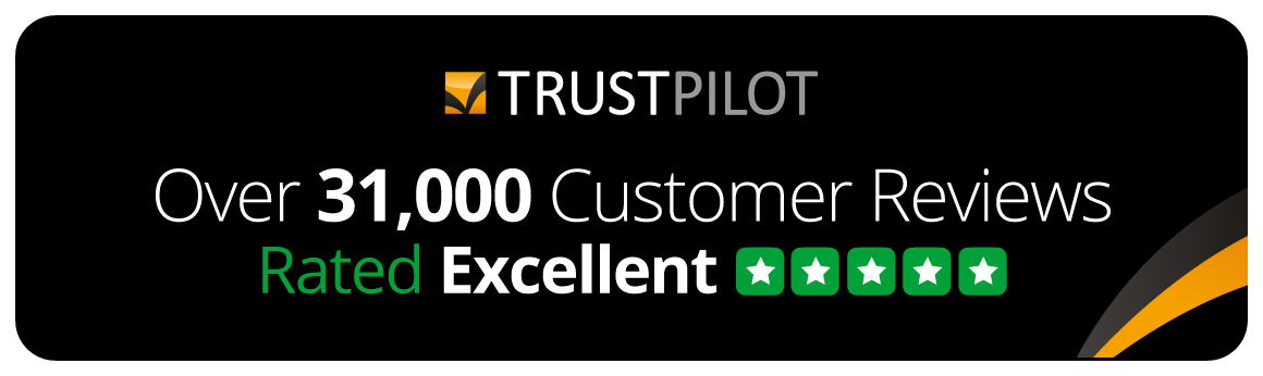 Rated Excellent with over 31,000 customer reviews on Trustpilot