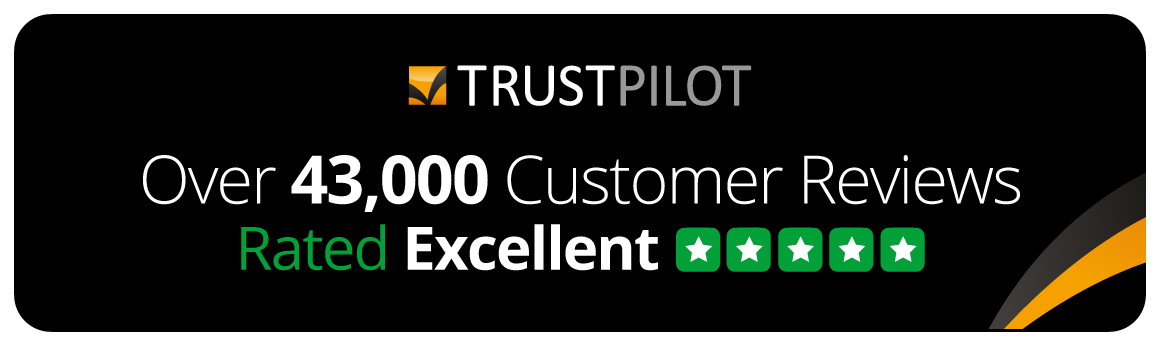 Rated Excellent with over 46,000 customer reviews on Trustpilot