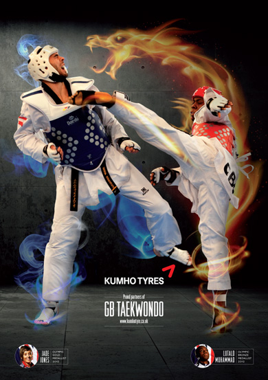 Kumho proud partners of GB Taekwondo