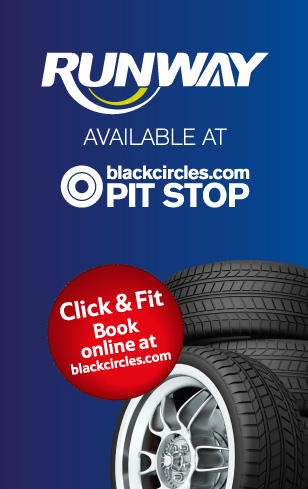 Runway tyre available at Blackcircles Pit Stop at tesco stores