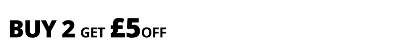 Multibuy offer buy two get £5 off or buy four get £10 off