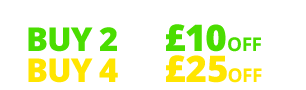 Multibuy offer buy two tyres get £10 off or buy four tyres and get £25 off