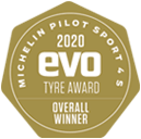 EVO Tyre test Gold Award